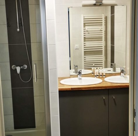 Auberge de la vallière salle de bain
